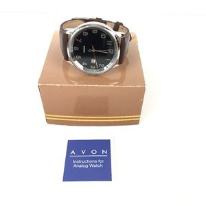 Avon Classic Brown Leather Strap Military Watch